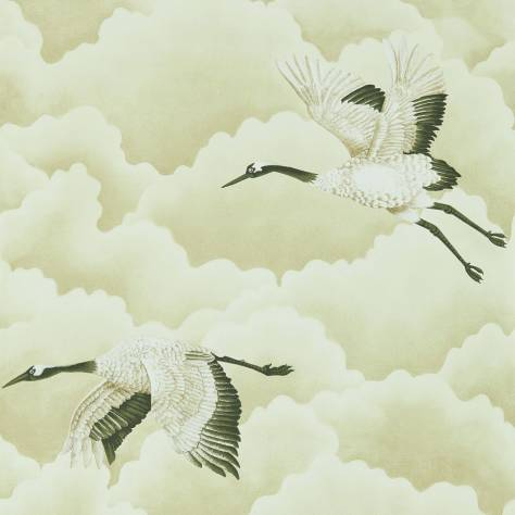 Harlequin Palmetto Wallpapers Cranes in Flight Wallpaper - Pebble - 111231