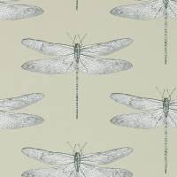 Demoiselle Wallpaper - Jute/Slate