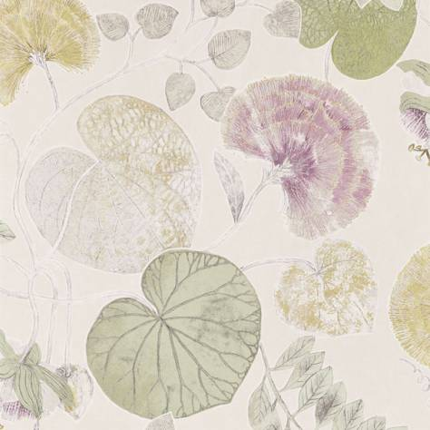 Harlequin Palmetto Wallpapers Dardanella Wallpaper - Linden/Heather - 111259