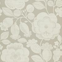 Verena Wallpaper - Linen/Silver Grey