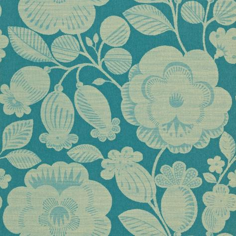 Harlequin Folia Wallpapers Verena Wallpaper - Teal/Gilver - 110280