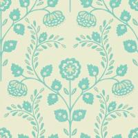 Lucerne Wallpaper - Pearl/Aquamarine
