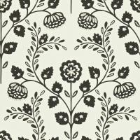 Lucerne Wallpaper - Onyx/Gilver/Chalk