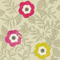 Jena Wallpaper - Gold/Chartreuse/Cherry/Raspberry