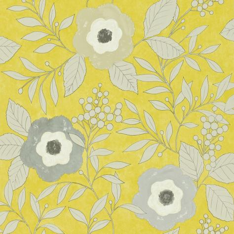 Harlequin Folia Wallpapers Jena Wallpaper - Chartreuse/Gilver/Stone - 110311