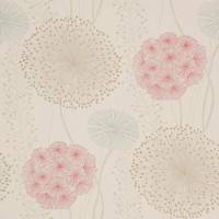 Gardenia Wallpaper - Red Blush/Duckegg/Neutral