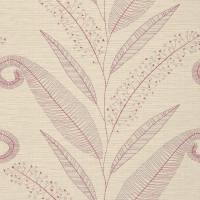 Formosa Wallpaper - Crimson/Pale Taupe