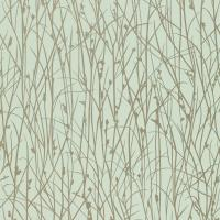 Grasses Wallpaper - Opal/Pewter