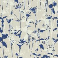 Nettles Wallpaper - Nautral/White/Indigo