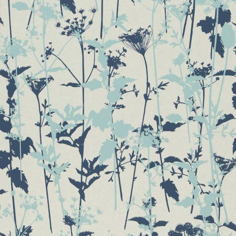 Harlequin Kallianthi Wallpapers Nettles Wallpaper - Pearl/Duckegg/Ink - 110172