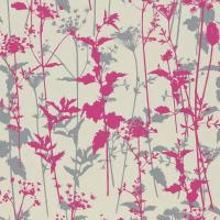 Nettles Wallpaper - Pearl/Fuchsia/Dark Pebble