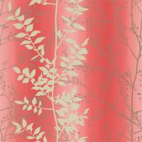 Persephone Wallpaper - Coral/Honeycomb/Pewter