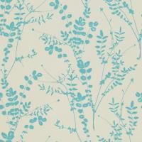 Salvia Wallpaper - Pewter/Aqua