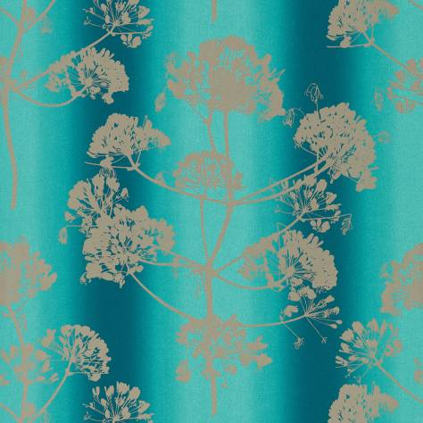 Harlequin Callista Wallpapers Angeliki Wallpaper - Ocean/Silver - 111398