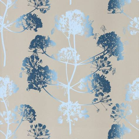 Harlequin Callista Wallpapers Angeliki Wallpaper - Indigo/Pewter - 111399