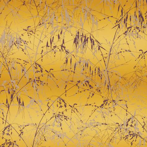 Harlequin Callista Wallpapers Meadow Grass Wallpaper - Mimosa/Mulberry - 111405