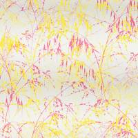 Meadow Graass Wallpaper - Fuchsia/Bronze