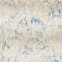Meadow Grass Wallpaper - Gilver/Blue