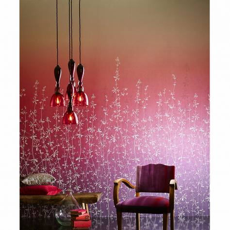 Harlequin Callista Wallpapers Hortelano Wallpaper - Amethyst/Ruby *Must see sample* - 111412