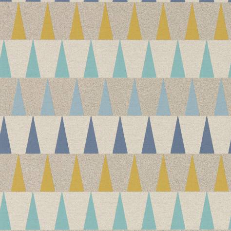 Harlequin Tresillo Wallpapers Azul Wallpaper - Navy/Ochre/Seaglass - 111443
