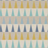 Azul Wallpaper - Navy/Ochre/Seaglass