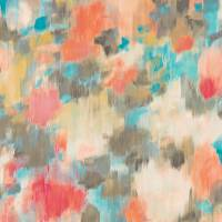 Exuberance Wallpaper - Coral/Turquoise
