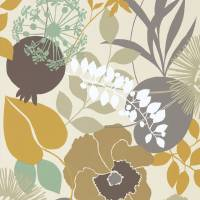 Doyenne Wallpaper - Ochre/Stone/Mint