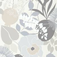 Doyenne Wallpaper - Mist/Linen/Hessian
