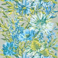Floreale Wallpaper - Cornflower/Gilver
