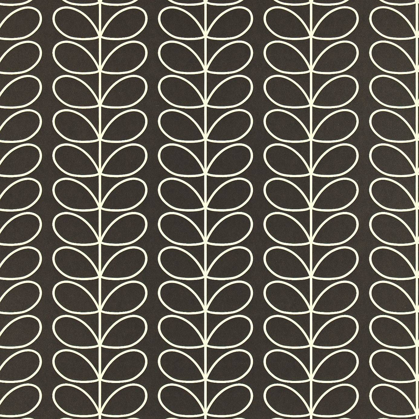Harlequin Orla Kiely Wallpapers Linear Stem Wallpaper - Graphite - 110398. Loading zoom