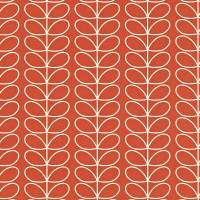 Linear Stem Wallpaper - Poppy
