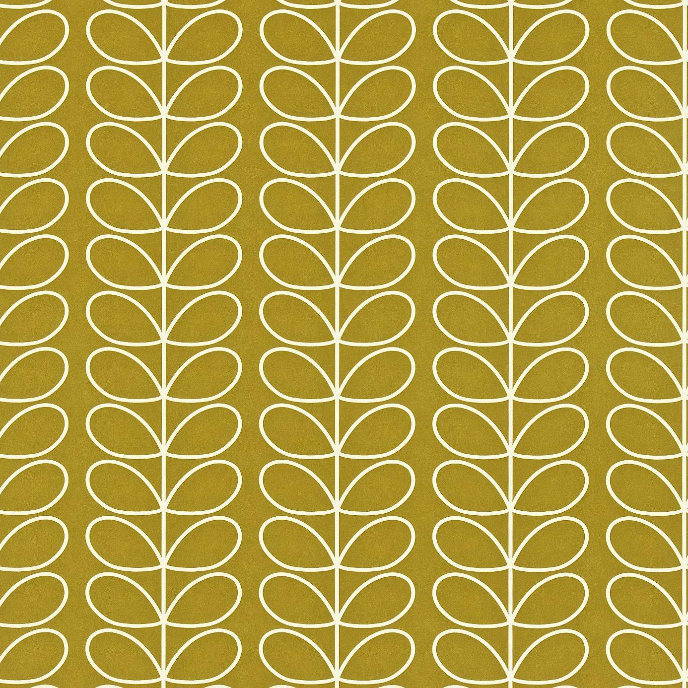 Harlequin Orla Kiely Wallpapers Linear Stem Wallpaper - Olive - 110401. Loading zoom