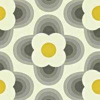 Striped Petal Wallpaper - Graphite
