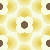 Striped Petal Wallpaper - Straw