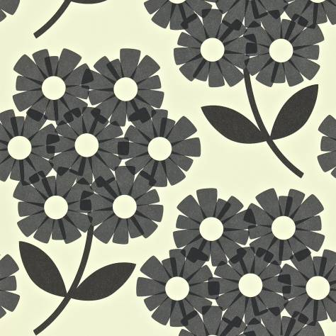 Harlequin Orla Kiely Wallpapers Giant Rhododendron Wallpaper - Slate - 110412