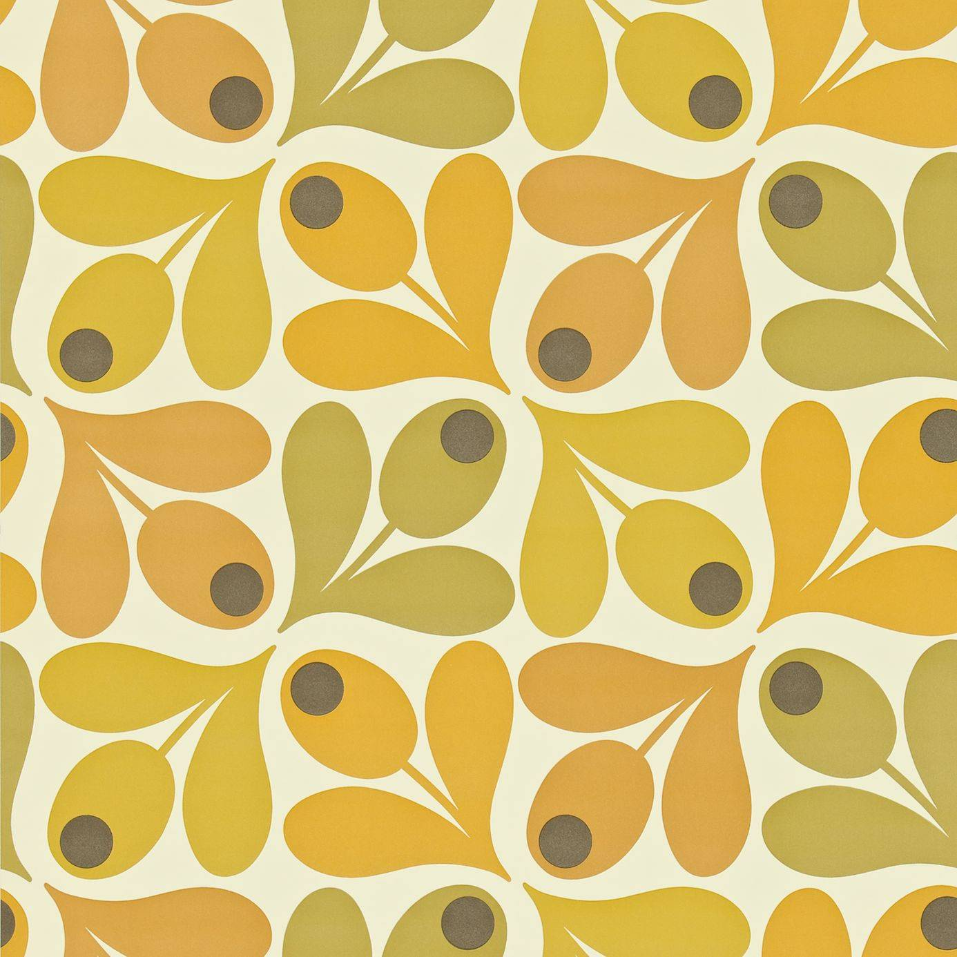multi acorn spot wallpaper saffron 110419 harlequin orla kiely wallpapers collection. Black Bedroom Furniture Sets. Home Design Ideas
