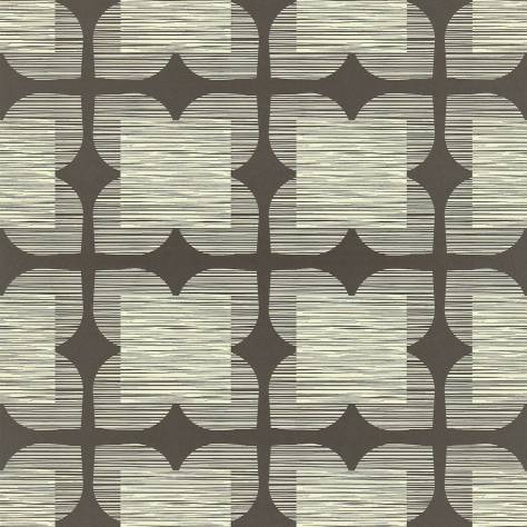 Harlequin Orla Kiely Wallpapers Flower Tile Wallpaper - Graphite - 110420