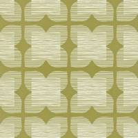 Flower Tile Wallpaper - Bay Leaf