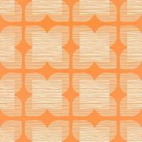 Flower Tile Wallpaper - Clementine