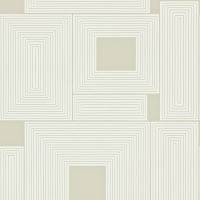 Maze Wallpaper - Putty/Chalk