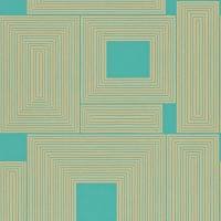 Maze Wallpaper - Teal/Gold