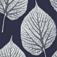 Leaf Wallpaper - Indigo/Chalk