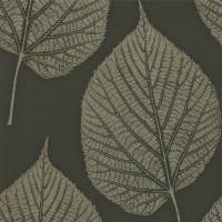 Leaf Wallpaper - Onyx/Hemp