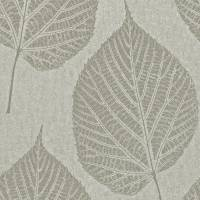 Leaf Wallpaper Beaded - Pebble