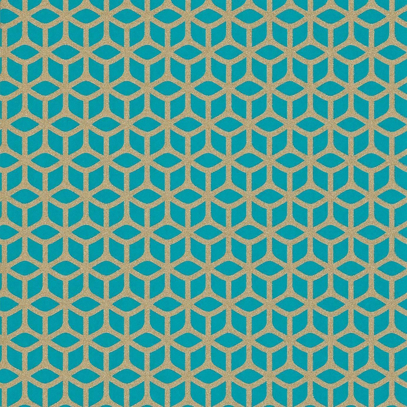 harlequin momentum wallpapers vol 2 trellis wallpaper teal 110381 loading zoom - Trellis Wall Paper