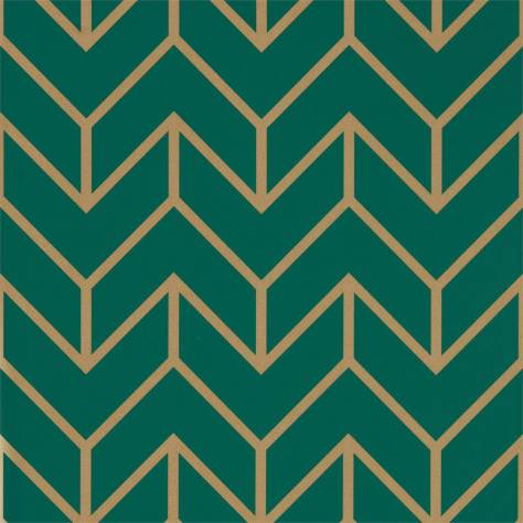 Harlequin Momentum Wallpapers Vol. 5 Tessellation Wallpaper - Teal Gold - 111984