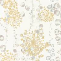 Moku Wallpaper - Ochre / Seaspray
