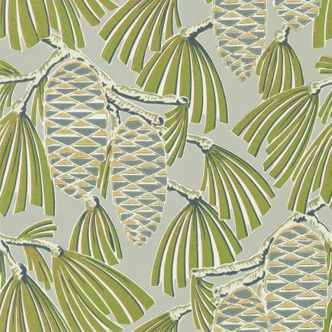 Harlequin Salinas Wallpapers Foxley Wallpaper - Fern Stone - 112126