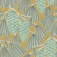 Foxley Wallpaper - Kingfisher / Gold