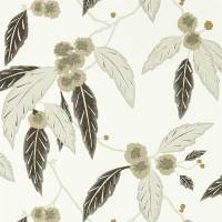 Coppice Wallpaper - Oyster / Ebony / Gilver
